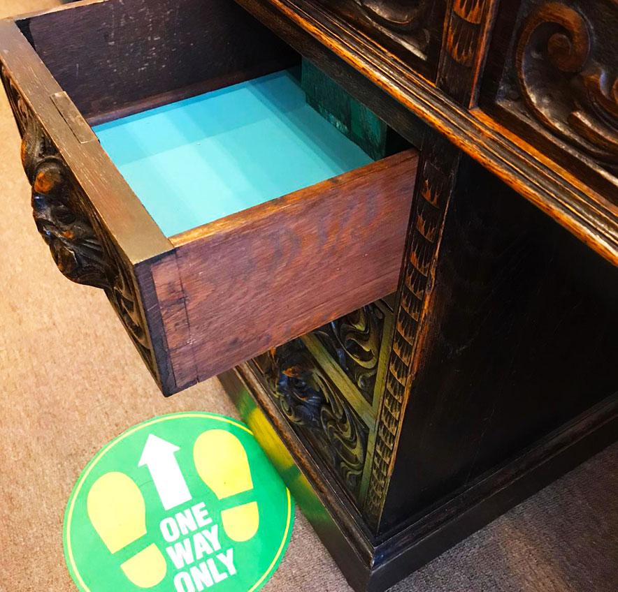 Stunning Green Man Carved Oak Victorian Desk (SOLD)