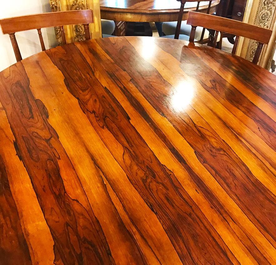 Antique Rosewood Victorian Tilt Top Table