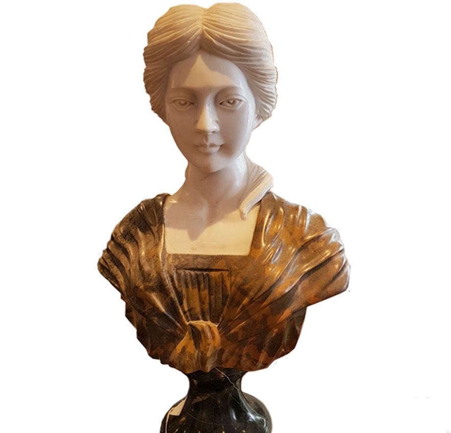 Italian Carrara Marble Female Bust (SOLD)