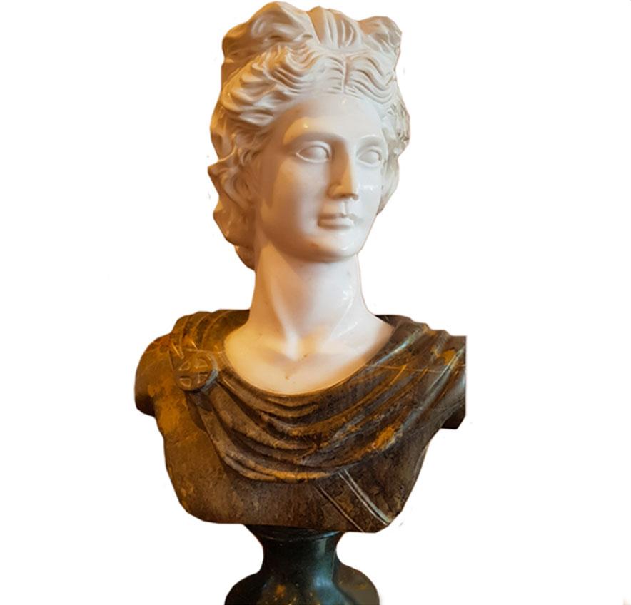 Italian Carrara Marble Male Bust (SOLD)