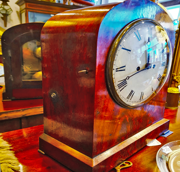 Antique Twin Fusee Mahogany Bracket Clock