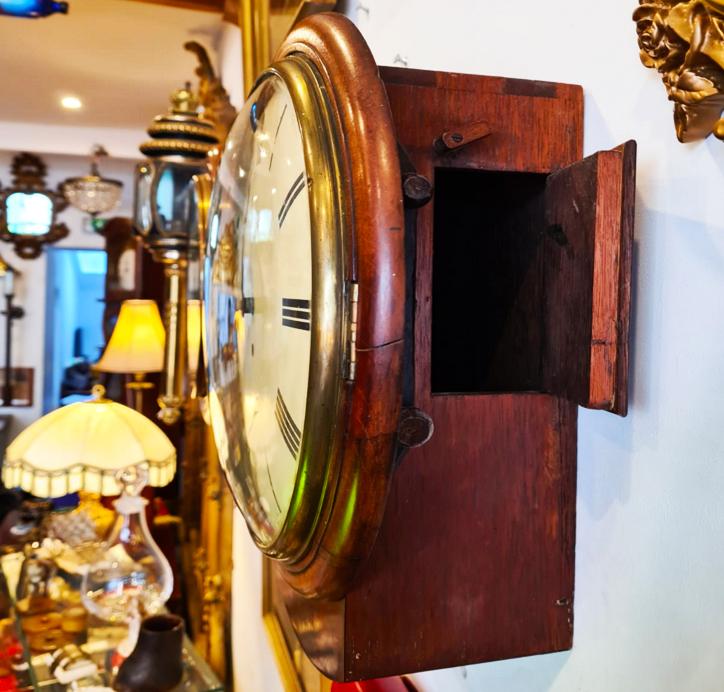Fusee Drop Dial Convex Wall Clock